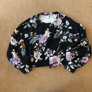Mossimo Tropical Crop Sweatshirt
